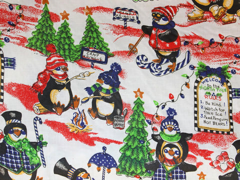 North Pole Penguins Cotton -  - Golden D'or Fabrics