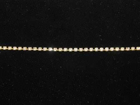 SS8 Crystal Rhinestone Chain - Golden D'or Fabrics
