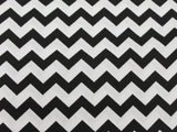 Cotton Chevron - Black/White - Golden D'or Fabrics - 5