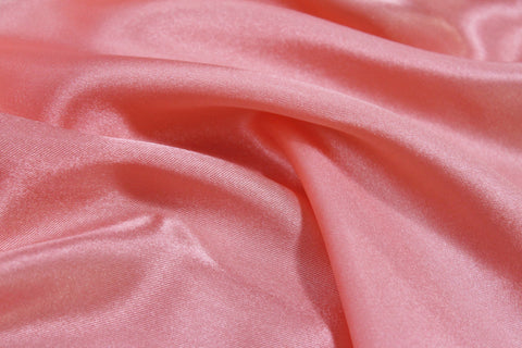 Charmeuse Satin - Coral - Golden D'or Fabrics - 1