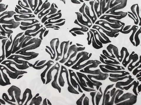 Ink Stamped Fronds Cotton -  - Golden D'or Fabrics