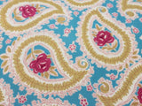 Pretty Paisley Cotton - Gold/blue/pink - Golden D'or Fabrics - 2