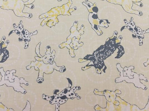 Pups Cotton - Butter - Golden D'or Fabrics - 2