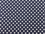 Small Dot Cotton - Navy/White - Golden D'or Fabrics - 7
