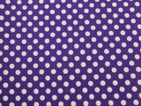 Small Dot Cotton - Purple/White - Golden D'or Fabrics - 4