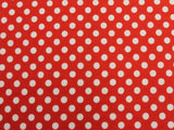 Small Dot Cotton - Red/White - Golden D'or Fabrics - 5