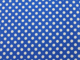 Small Dot Cotton - Royal/White - Golden D'or Fabrics - 8
