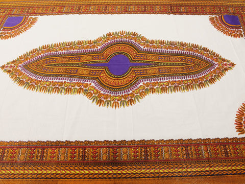 Dashiki African Print 10699- Off White -  - Golden D'or Fabrics - 1