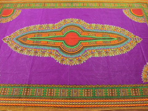 Dashiki African Print 10699- Purple -  - Golden D'or Fabrics - 1