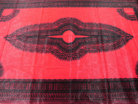 Dashiki African Print 33198- Red -  - Golden D'or Fabrics - 1