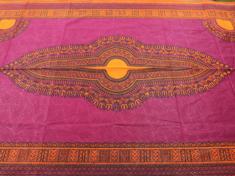 Dashiki African Print 34534- Burgundy -  - Golden D'or Fabrics - 1