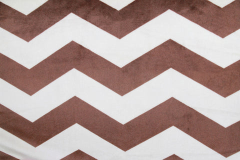 Large Minky Chevron - Brown/Cream - Golden D'or Fabrics - 4