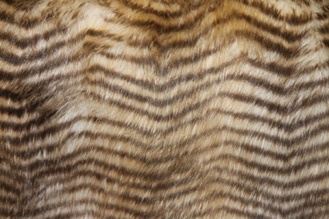 Striped Feline Faux Fur - Golden D'or Fabrics