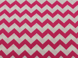 Cotton Chevron - Fuchsia/White - Golden D'or Fabrics - 10