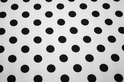 Georgette Small Dot- Black on White