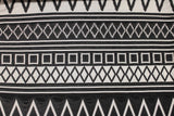 Jacquard Knit - Black/White - Golden D'or Fabrics - 1