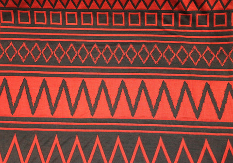 Jacquard Knit - Red/Black - Golden D'or Fabrics - 2