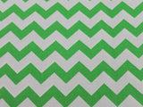 Cotton Chevron - Lime/White - Golden D'or Fabrics - 11