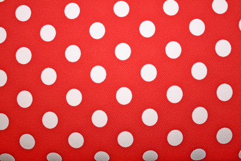 Printed Liverpool Knit- White Dot on Red