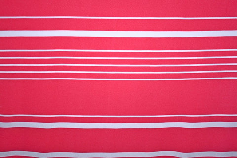 Liverpool Knit Stripe- Coral/White