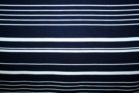 Liverpool Knit Stripe- Navy/White