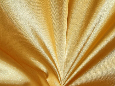 Lycra Stretch Satin- Bright Gold