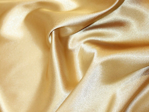 Lycra Stretch Satin- Light Gold