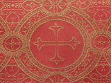 Clergy Brocade - Metallic Red/Gold - Golden D'or Fabrics - 4