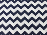 Cotton Chevron - Navy/White - Golden D'or Fabrics - 6