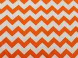 Cotton Chevron - Orange/White - Golden D'or Fabrics - 13