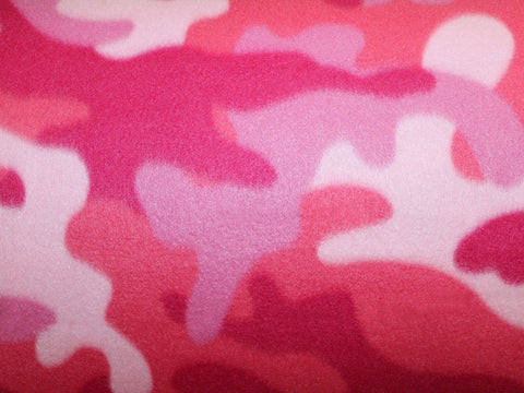 New Camo Fleece- Pink -  - Golden D'or Fabrics