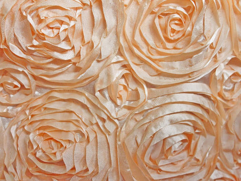 Poly Satin Flower Fabric Peach