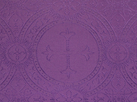 Clergy Brocade - Purple - Golden D'or Fabrics - 1