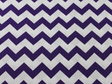 Cotton Chevron - Purple/White - Golden D'or Fabrics - 2