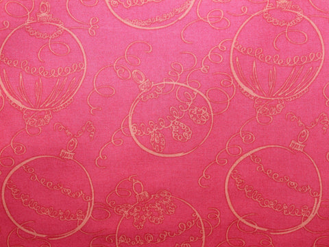 Red Ornaments Christmas Cotton -  - Golden D'or Fabrics