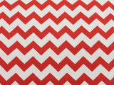 Cotton Chevron - Red/White - Golden D'or Fabrics - 7