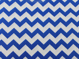 Cotton Chevron - Royal/White - Golden D'or Fabrics - 8