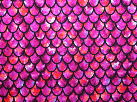 Scallop Spandex- Fuchsia - Golden D'or Fabrics