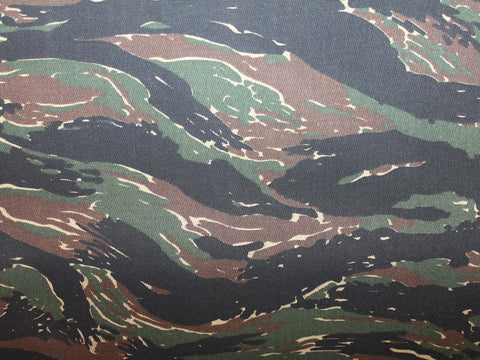 Camo Canvas- Tiger Stripe Dark -  - Golden D'or Fabrics
