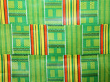 African Cotton Print- Tribal Stripe - Golden D'or Fabrics
