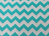Cotton Chevron - Turquoise/White - Golden D'or Fabrics - 3