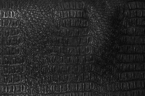 Gator Vinyl- Black - Golden D'or Fabrics