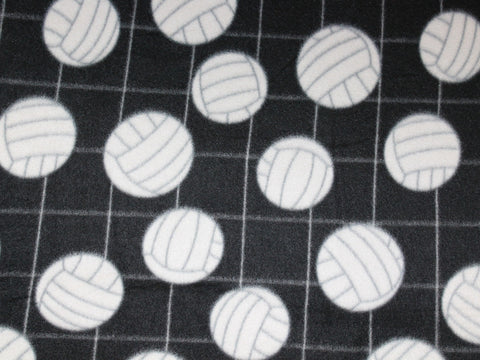 Volleyball Fleece- Black -  - Golden D'or Fabrics