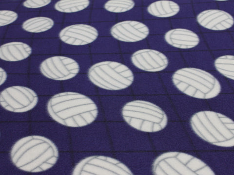 Volleyball Fleece- Purple -  - Golden D'or Fabrics