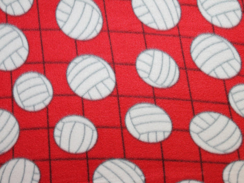 Volleyball Fleece- Red -  - Golden D'or Fabrics