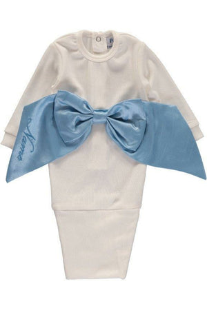 Baby boy Bow Bag - Blue