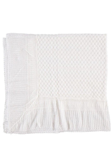 Julius Berger White Lace Blanket [product_tags] - Carriage Boutique