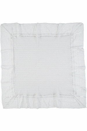 Julius Berger Belgium Lace with White Ribbon Blanket