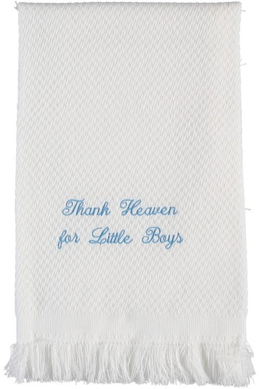 Julius Berger Thank Heaven For Little Boys Blanket [product_tags] - Carriage Boutique