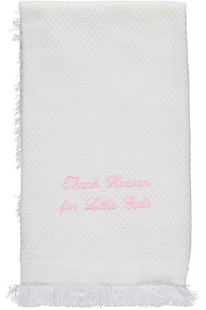 Julius Berger Thank Heaven For Little Girls Blanket [product_tags] - Carriage Boutique